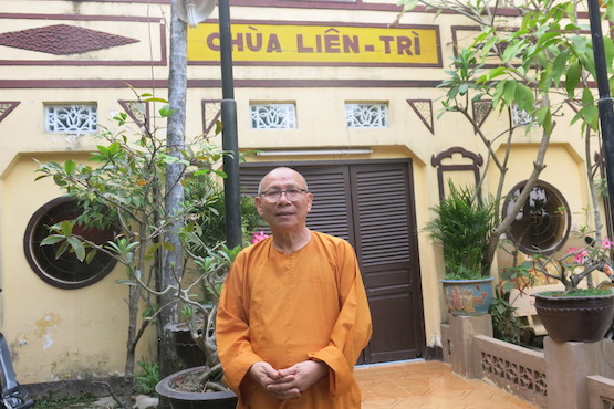 Venerable Thich Khong Tanh, the head monk