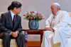 Pope holds historic meeting with Japanese emperor